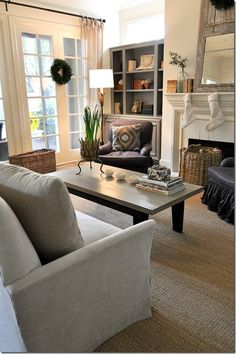 If I were brave enough, I'd go gray with the built-in's - just like this!!  So sophisticated....