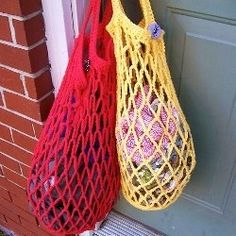 List of shopping bag crochet  patterns. Make yourself an eco friendly crochet shopping bag for all your groceries, also makes a great handmade...