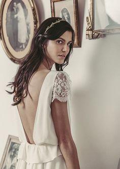 d880644c912c7 Wedding Dress    Bridal Outfit for a civil ceremony    Laure de Sagazan    Mariage civil    Robe de mariage