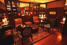 Private Cigar Room at Beekman Bar And Books Cigar Club, Cigar Bar, Book Bar, Cigar Room, Outdoor Restaurant, Good Cigars, Man Room, Cafe Interior, Bed And Breakfast