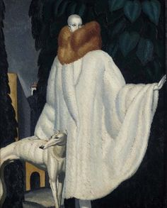 Illustration by Jean Dupas, 1929, Woman with stole.