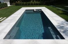 We carry dozens of styles and sizes of fiberglass swimming pools and spas. Leisure Pools of Toronto Small Backyard Pools, Backyard Pool Designs, Swimming Pools Backyard, Pool Sizes Inground, Pools Inground, Lap Pools, Indoor Pools, Small Pools, Pool Decks