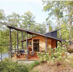 Future House, My House, Haus Am See, Lakeside Living, Casas Containers, Lake Cabins, Cabins In The Woods, Southern Living, House Plans
