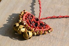 Macrame Fashion Charms Necklace Pendant Handmade by Macramedamare