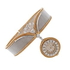 """Serpico y Laino"" 1960's Diamond Ladies Bracelet Watch,vintage Rolex, love!"