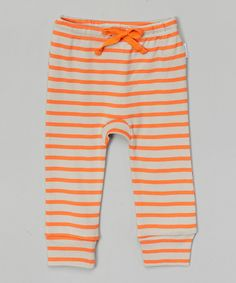 Look at this Orange Stripe Organic Leggings - Infant & Toddler on #zulily today!