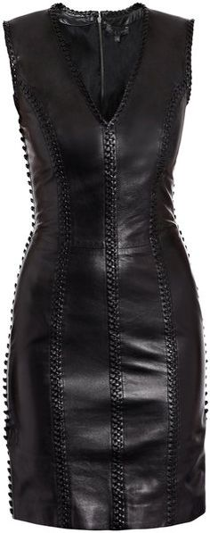 If I owned a black leather dress, this would be it.