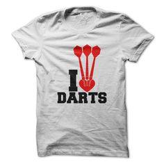 I Heart Love Darts White Tshirt T Shirt, Hoodie, Sweatshirt