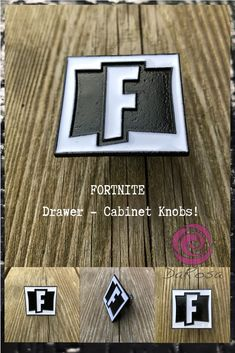 FORTNITE Drawer Knobs - Desser Knobs Have a FORTNITE fan in the house? Here is the perfect little item for them. Featuring the FORTNITE logo in Black and White, these knobs will certainly put a smile on any fan! Dresser Knobs, Cabinet Knobs, Geek Decor, Geek Girls, Gifts For Teens, Drawer Pulls, Drawers, Geek Stuff, Handmade Gifts