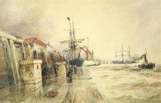 Bonhams Fine Art Auctioneers & Valuers: auctioneers of art, pictures, collectables and motor cars Charles Napier, His Travel, Watercolour, Steampunk, Art Gallery, Fine Art, Custard, Painters, Artist