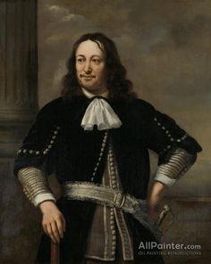 Ferdinand Bol,Portret Van Een Zee Overste,waarschijnlijk Vice Admiraal Aert Van Nes (1626 1693) oil painting reproductions for sale