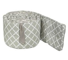 Love this bumper for boy or girl - could change it up with sheeting/bed skirt. Maybe we could paint crib...