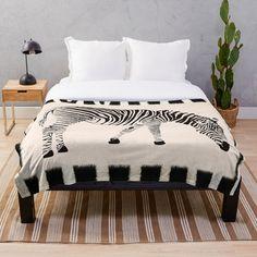 'Zebra Animal Print' Throw Blanket by RoyalSunGate Zebras, Animal Design, Zebra Print, Home Improvement, Blanket, Bed, Prints, Animals, Furniture