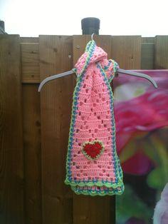 Haken &kleur meisjes sjaaltje little girl scarf happy colors /Annemarie Evers