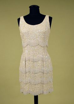 Beaded & Sequined Short Party Dress, 1970s.