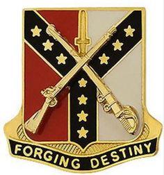 61st Cavalry Regiment Unit Crest (Forging Destiny)