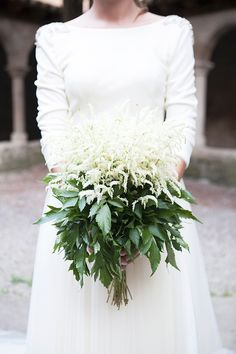 Elegant Wedding - astilbe bouquet