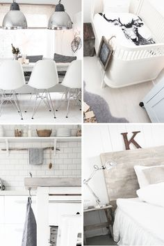 love the muted soft pallet, mix of rustic and modern....Those dining room chairs give me happy goose bumps.