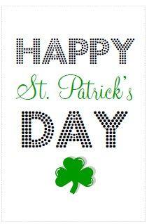 Happy St. Patrick's Day printable to frame