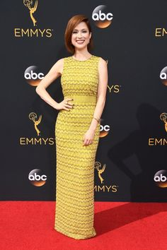 The Emmys Looks Everyone's Still Talking About After the Red Carpet Wrapped Ellie Kemper Wearing a Jenny Packham dress, Stuart Weitzman shoes, and Neil Lane jewels.