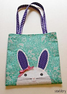 Easter Bunny Face Bag - A free PDF sewing pattern from SewVery!