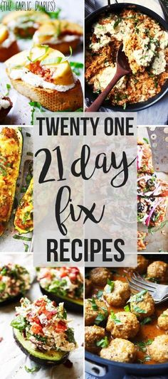 Twenty One 21 Day Fix Recipes