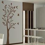 Vinilso decorativos de árbol con pajaritos para decoración de paredes inspiradas en la naturaleza. Vinilos para decorar tus paredes con estilo y originalidad