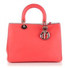 CHRISTIAN DIOR Calfskin Medium Diorissimo Bag Pink