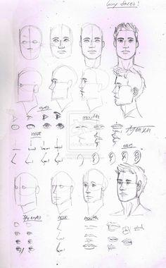 Guy face tutorial by may12324.deviantart.com on @deviantART