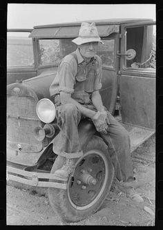 Farm hand, Kansas 1939; Library of Congress FSA/OWI collection