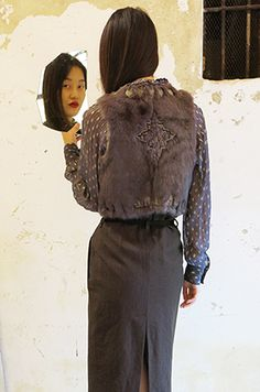 Wait and See - CHRISTOPHE SAUVAT shirt CHRISTOPHE SAUVAT fur vest