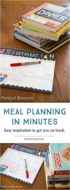 Struggle with meal planning? Check out this awesome approach to planning out your recipes for the whole week in just minutes. I love how much time it saves me not having to worry about what to make for dinner!