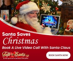 "Santa goes Virtual this year and brings the Christmas fun to your laptop/mobile screens! To book your live chat with Santa read the blog and follow the link. Use Promo Code ""TTSBNM"" to get 10% OFF your Entire Order. Book today as Santa is very busy this Christmas celebrating COVID Safe holiday season!!"