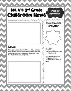 Editable Weekly Newsletter TemplateEdit Print And Go