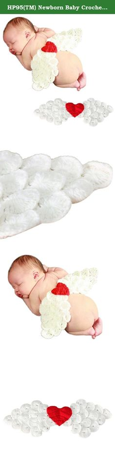 HP95(TM) Newborn Baby Crochet Knit Photo Prop Outfits Set Love Heart Angel Wing. *Size:57*17cm * Material: Knitting wool * Size:Suggest for 0-12 months baby(girls) * The cute and vivid little animals crochet knit design, very impressive and unique. * Good material and best design give your lovely baby free and unbound feeling. * Best choice for birthday, party and photo! * Best Christmas Gift for your baby! * Friendly Tips: The size is measured by hands, please allow minor error of...