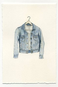 Watercolor is my favorite wash #denim #illustration