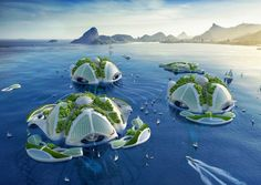 belgium-born and paris-based archibiotec vincent callebaut is in the research and development stages of a 3D printed oceanscraper called 'AEQUOREA'. the futuristic underwater farm is situated at the the rio de janeiro shore and aims to find sustainable solutions to climate change by promoting sea life. the project proposes to recycle the ocean plastic pollution and to transform the floating garbage patches into building materials for the naval architecture and engineering.
