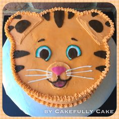 Daniel Tiger Cake -by Cakefully Cake                                                                                                                                                     More