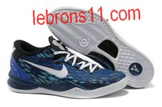 Kobe Bryant 8 Black White Royal Blue Shoes
