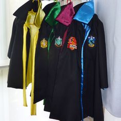 Harry potter house robes custom order sizes 2 3 3 4 all cotton