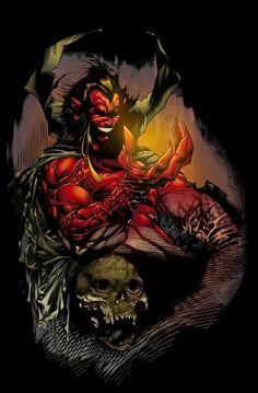 Mephisto by Marc Silvestri Comic Book Villains, Superhero Villains, Comic Book Superheroes, Marvel Villains, Comic Movies, Comic Book Characters, Marvel Characters, Marvel Dc, Marvel Comics