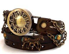 Reloj Steampunk reloj de cuero de mujer por CuckooNestArtStudio