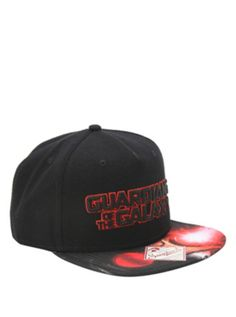 0adf096bfc1 Marvel Guardians Of The Galaxy Star-Lord Snapback Hat Super Hero Games