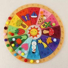 Cómo enseñar a los peques el concepto del paso del tiempo con el calendario Waldorf-Montessori | Actividades infantil