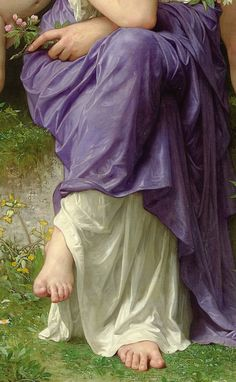 """""""Spring"""" by William Adolphe Bouguereau William Adolphe Bouguereau, Classic Paintings, Beautiful Paintings, Traditional Paintings, Traditional Art, Contemporary Paintings, Academic Art, Aesthetic Painting, Classical Art"""