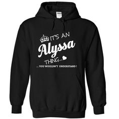 Its An Alyssa Thing - #tee itse #hoodie novios. GET IT => https://www.sunfrog.com/Names/Its-An-Alyssa-Thing-xiotb-Black-15526040-Hoodie.html?68278