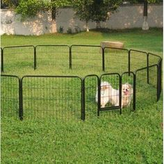 Details about 24 Tall 16 Panels Metal Pet Dog Puppy Cat Exercise Fence Barrier Playpen Kennel Portable Dog Fence, Portable Dog Kennels, Dog Playpen, Wireless Dog Fence, Temporary Fence For Dogs, Cat Fence, Fence Gate, Cat Exercise, Diy Dog Kennel