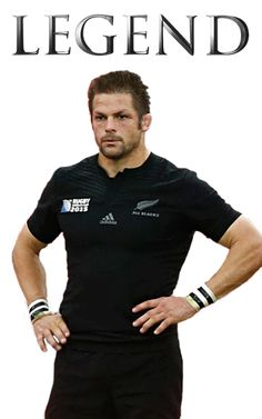"All Blacks rugby - Rugby World Cup 2015 - Richie McCaw ""Legend"" poster created by Gordon Tunstall using Adobe Photoshop 2015"