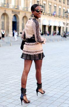Shala Monroque (street style icon & fashion celebrity)