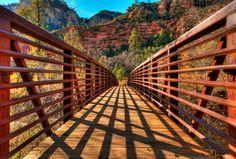 Beginning of West Fork hiking trail, Sedona, AZ (photo by Michael Wilson)